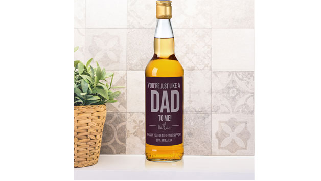 Just Like a Dad to Me Bottle of Whisky
