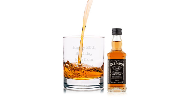 Jack Daniel's Miniature and Tumbler Whiskey Gift Set