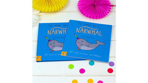 I'd Rather Be a Narwhal Storybook With Personalisation