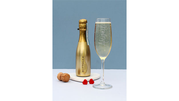 Bottega Gold Prosecco and Flute Set