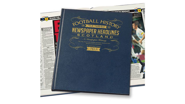 Scotland Football Personalised Newspaper Book