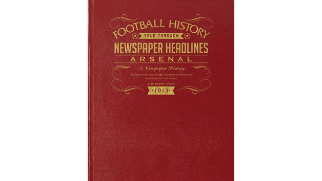 Arsenal Football Personalised Newspaper Book