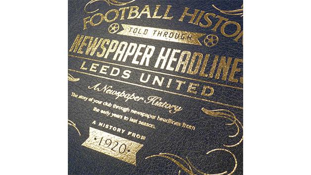 Leeds United Football Personalised Newspaper Book