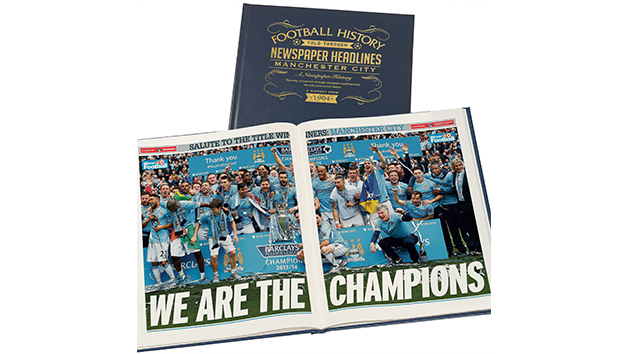 Manchester City Football Personalised Newspaper Book