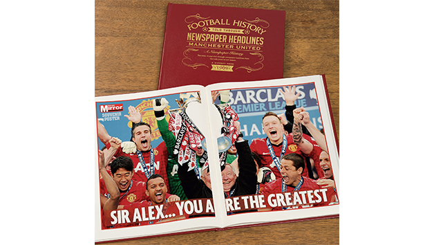 Manchester United Football Personalised Newspaper Book