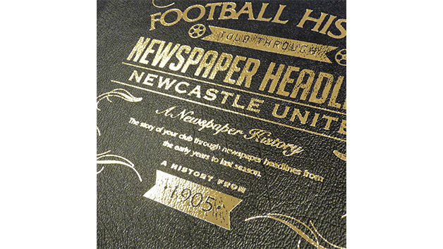 Newcastle United Football Personalised Newspaper Book