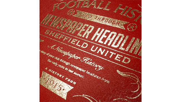 Sheffield United Football Personalised Newspaper Book
