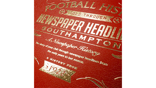 Southampton Football Personalised Newspaper Book