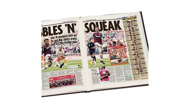 West Ham United Football Personalised Newspaper Book