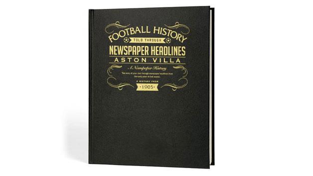 Aston Villa Football Personalised Newspaper Book