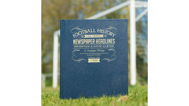 Brighton and Hove Albion Football Personalised Newspaper Book