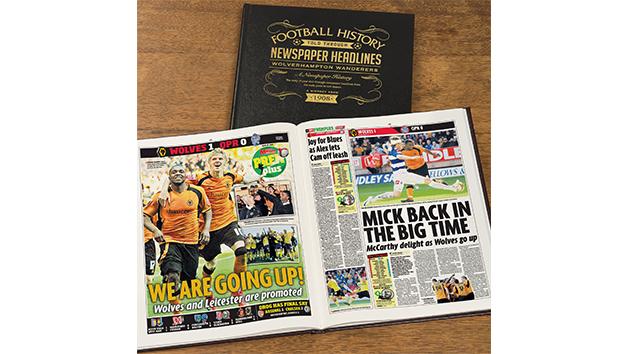 Wolves Football Personalised Newspaper Book