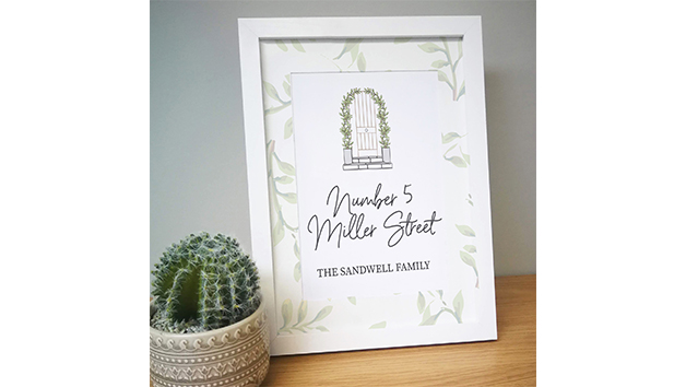 Grey Home A4 Framed Print with Personalisation