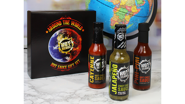Personalised Hot-Headz Around the World Hot Sauce Gift Box