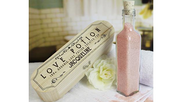 Personalised Pink Bath Salts Love Potion