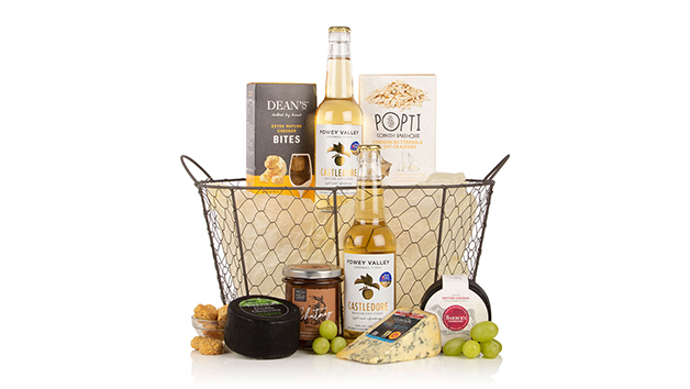 Cider and Cheese Basket Hamper