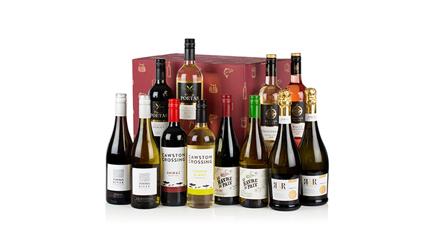 Twelve Wines in a Box Hamper