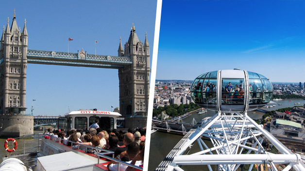 London Eye Tickets and River Cruise Experience for Two