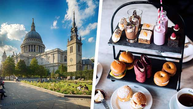 St Paul's Cathedral Entry and Gin Afternoon Tea at Malmaison London for Two