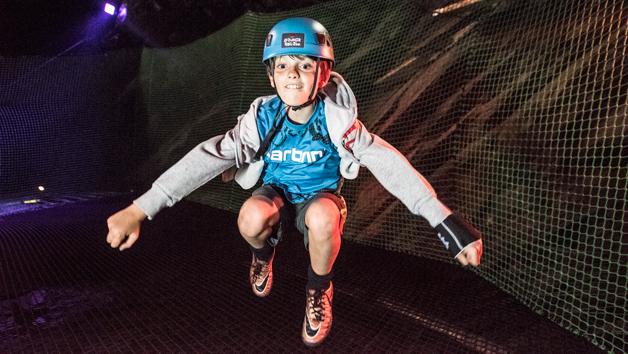 Bounce Below at Zip World, Wales