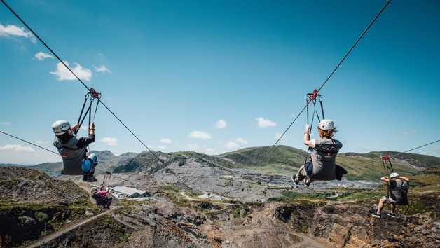 Titan 2 Zip Wire Experience for Two in Wales - Week Round