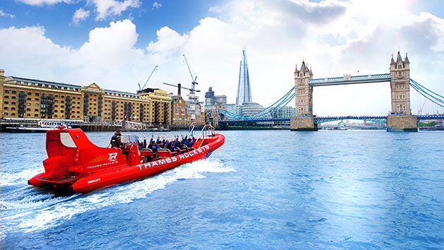 High Speed Boat Ride with Thames Rockets for Two
