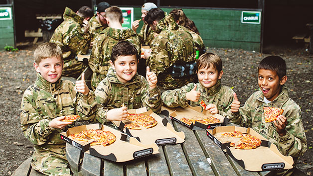 Forest Laser Tag Battle with Lunch for Four