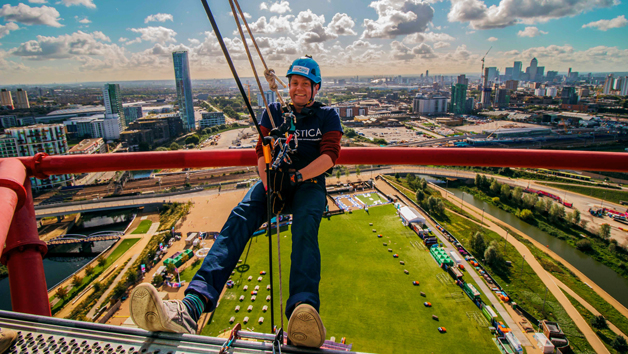 Freefall Abseil for One at The ArcelorMittal Orbit