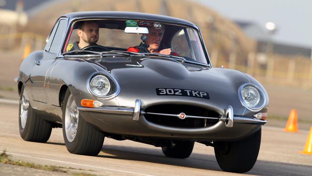 E-Type Jaguar Driving Thrill