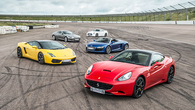 Five Supercar Thrill with High Speed Passenger Ride