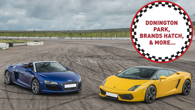 Double Supercars Driving Thrill at a Top UK Race Track