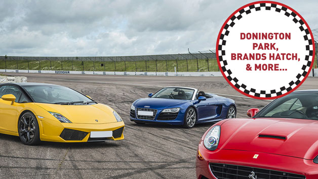 Triple Supercar Driving Thrill at a Top UK Race Track