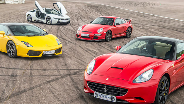 Four Supercars Driving Thrill at a Top UK Race Track