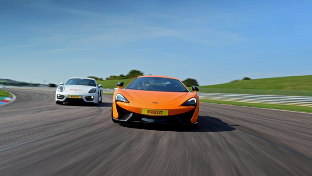 McLaren 570S and Porsche Driving at Thruxton