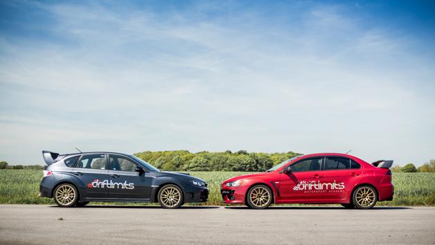 14 Lap Subaru STI vs. Mitsubishi Evo Driving Experience for One in Hertfordshire