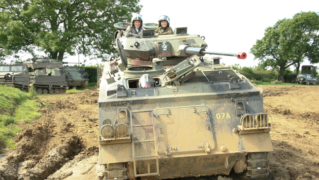 Tank Driving Experience for an Adult and Child