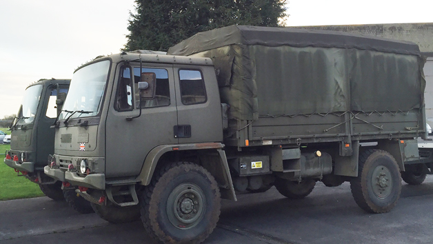 Military Driving Experience in a Leyland DAF Truck and Volvo BV202 for One Adult and One Child