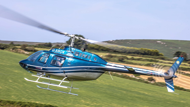 25 Mile Private Helicopter Experience and a Magnum of Bubbly for Four