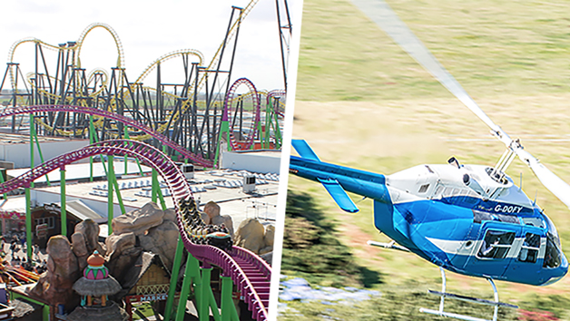 Six Mile Helicopter Flight with Tickets to Fantasy Island Theme Park in Skegness for Two