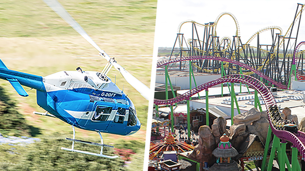Six Mile Helicopter Flight with Tickets to Fantasy Island Theme Park in Skegness for Four