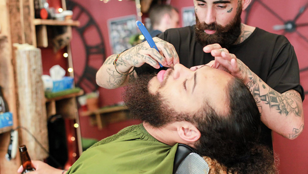 Men's Haircut and Wash with Cut Throat Razor Wet Shave at Headcase Barbers for One