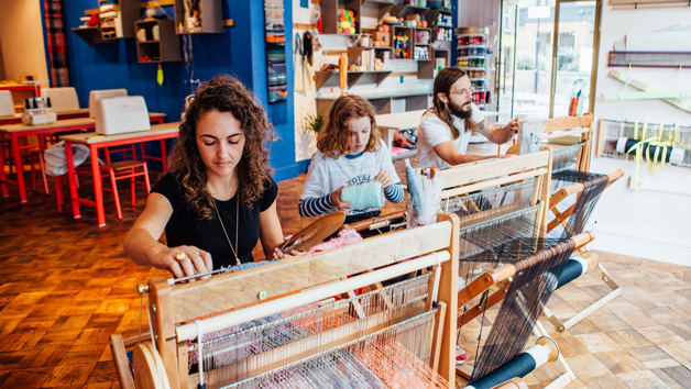 Two Hour Freestyle Weaving Workshop at Make Town for Two