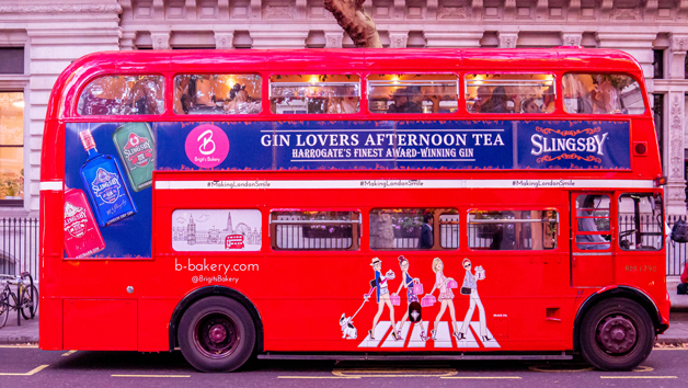 Gin Afternoon Tea London Bus Tour for Two with Brigit's Bakery