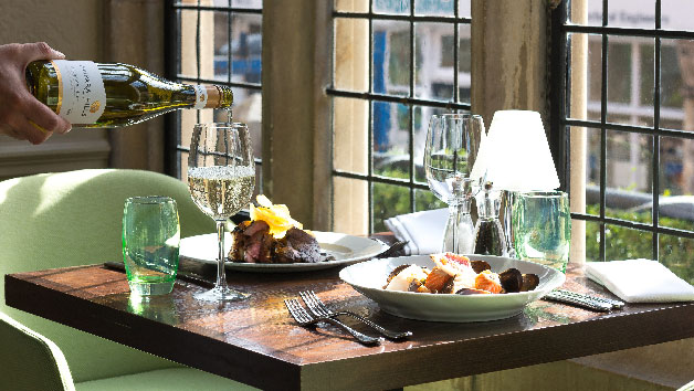 Three Course Meal with Wine for Two at The Crown Manor House Hotel