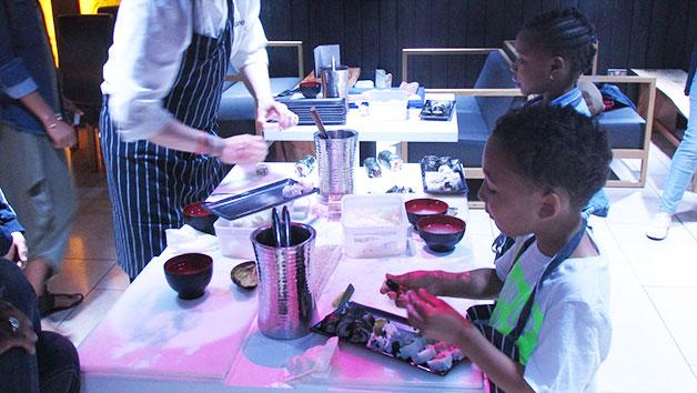 Children's Sushi Masterclass at Inamo, Soho