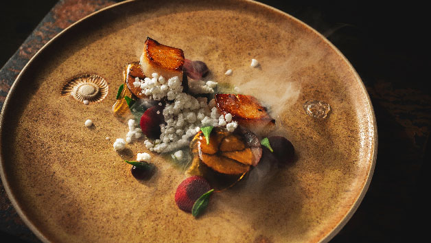 Four Course Meal with Fizz for Two at Old Downton Lodge