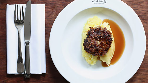 Two Course Lunch with Glass of Fizz at Reform Social and Grill for Two