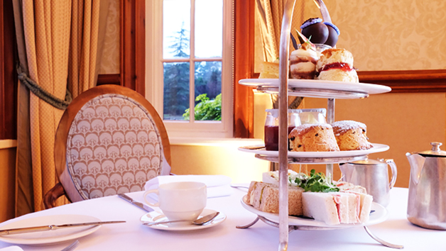 Afternoon Tea with a Glass of Champagne for Two at Nunsmere Hall