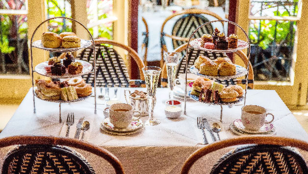 Traditional Afternoon Tea and Fizz for Two at Boulevard Brasserie