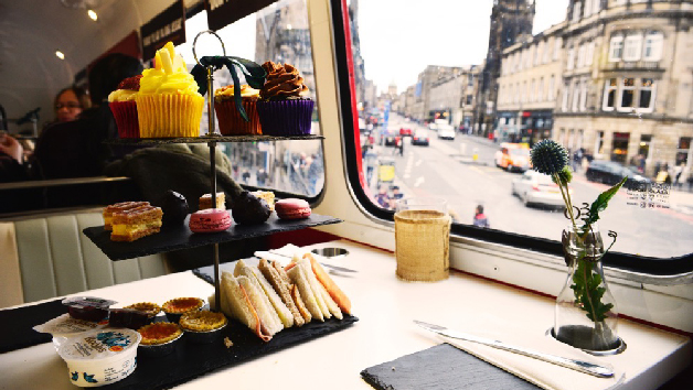 Traditional Afternoon Tea Bus Tour in Glasgow or Edinburgh for Two